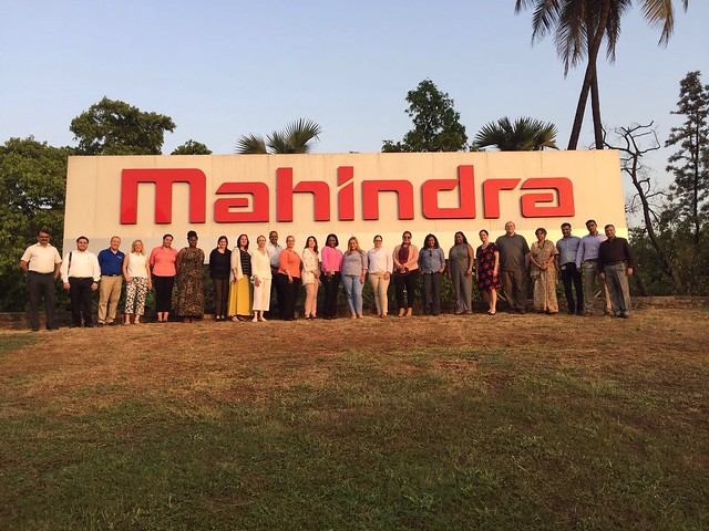 M.B.A. Students Visit India